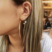 6Pcs Boho Simple Circle Small Hoop Earring Set Women Punk Earrings Jewelry Gift
