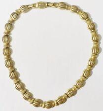 collier bijou vintage signé MONET rallonge maillon relief couleur or * 3675