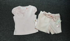 Biscotti Collezioni Nwt Lot Of 2 Pink Cotton Blend Girl's Top & Shorts 10 Ff5789