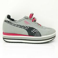 Puma Womens Roma 35635101 Gray Pink Running Shoes Lace Up Low Top Size 9