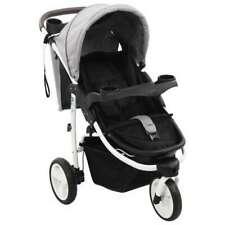 vidaXL 10180 Passeggino Singolo per Bambino da 6 a 36 Mesi - Grigio/Nero