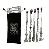 5X Harry Potter Fans Wizard Wand Magic Stick Makeup Cosmetic Brushes Set Kit+Bag
