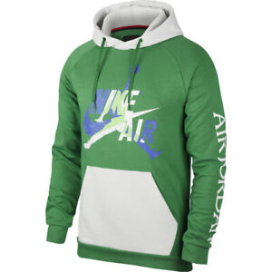 Nike Air Jordan Herren Men Classics Pullover Hoodie Kapuze Grün