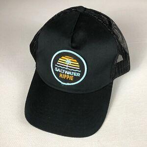 Saltwater Hippie Snapback Hat Patch Cap Trucker Adult Mens Sunset Palm Tree Sea