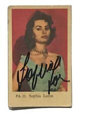 Sophia Loren Autographed Dutch Gum Card Signed Will Pass JSA Authentic