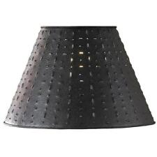"Lamp Shade 14"" Black Metal Dot Dash Decor Light Home Living Room Cabin Lodge New"