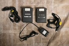 2x Quantum Turbo Sc Batteries Sc with 1 charger and 2 cords for Nikon flashes.