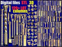 Columns 120 + LOT 3D Model STL relief for cnc STL format LOT  carving