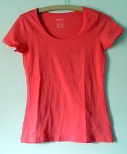 Damen Basic T - Shirt , Koralle , Größe L , NEU
