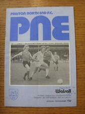 06/09/1977 Preston North End v Walsall [Football League Cup] (Crease, Fold, Scor