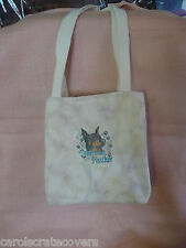 Doberman Pinscher Dog Embroidered Tote Bag 10 x 9 x 3 Handmade