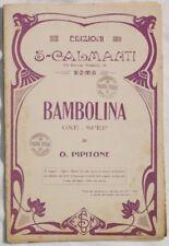 PIPITONE BAMBOLINA SPARTITI MUSICA ORCHESTRA COMPLETO