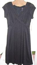 NWT Allison Morgan Stretch Black Dress Misses Size 6
