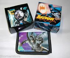 FABULOUS CHILDRENS BATMAN WATCH &  WALLET SET NEW