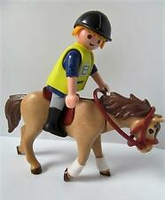 Playmobil Farm/stables: Horse and male rider figure NEW