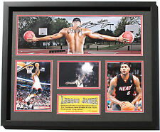 New LeBron James Signed Miami Heat Limited Edition Memorabilia