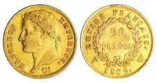 France - Napoléon 1er  - 20 francs revers empire 1809 W (lille)