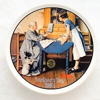 Norman Rockwell Plate Mother's Day 1983 Add Two Cups And A Measure Of Love