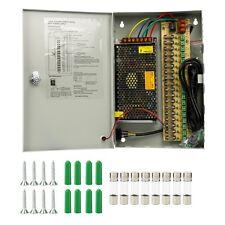 18 CH Ports 12V DC 20A Power Supply Distribution Box for CCTV Security Camera US