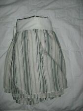 "Westpoint Stevens California King Bed Skirt 13"" Drop Ivory Gray Green Stripe"
