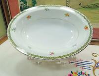 "VINTAGE T.K. THUN BOHEMIA CZECH BEVERLY & GREEK KEY OVAL 10"" VEGETABLE BOWL"