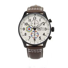 Aviator Chronograph Pilots Vintage Brown Leather Men's Watch AVW2044G292