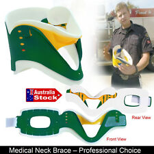 NECK COLLAR SUPPORT BRACE CERVICAL FRACTURE HEALS AID ADJUSTABLE SOFT FOAM BACK