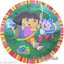 DORA THE EXPLORER Fiesta SMALL PAPER PLATES (8) ~ Birthday Party Supplies Cake
