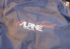 """Coveralls Short Sleeve Size 46 """"The Alpine Touch""""Mobile Electronics On Back Side"""
