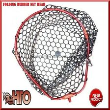 TRONIX PRO HTO FOLDING RUBBER MESH LANDING NET HEAD FOR SEA GAME LRF ROD FISHING