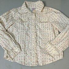 Gymboree Autumn Highlands Button Down Dress Shirt Blouse Size 6