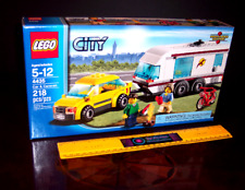 LEGO CAR and CARAVAN CAMPER CAMPING MOTORHOME TOW BEHIND + BICYCLE + FIREPIT NEW