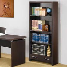 Coaster 800905 - Skylar 4 Shelf Bookcase with Storage Drawer - Cappuccino