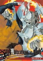 WOLVERINE VS. SHIVA / X-Men Fleer Ultra Wolverine (1996) BASE Trading Card #05