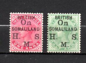 British Somaliland very nice QV era overprints,stamps as per scan(10353)