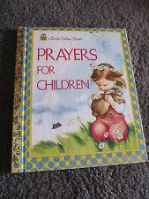 LITTLE GOLDEN BOOK...Hardcover    book...2000....Prayers for Children