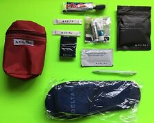 Blue Delta Slippers Red Amenity Kit Business Class Eye Mask Sugar Tissues Travel