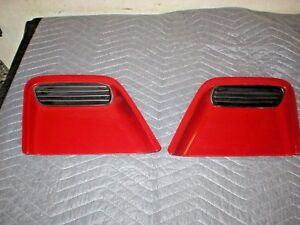 1993 -97 Firebird Trans Am Hood Vents Grills Filler Section Dam spoiler GM RED
