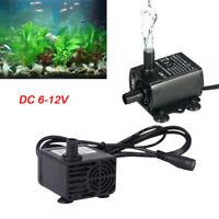 Aquarium Submersible Pompe à eau solaire DC 6-12V 5W 500L/H avec 1.5 Câble