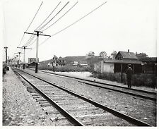 NANTUCKET RAILROAD ~ WAITING FOR THE TRAIN AT SURFSIDE ~ c. - 1910