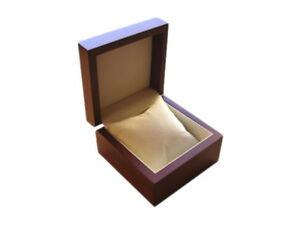 Uhrenbox für 1 Uhr aus Holz ohne Sichtfenster