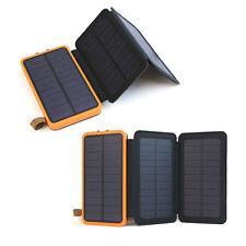 300000mah Waterproof Solar Panel External Battery Charger Power Bank FR Phone UK Orange