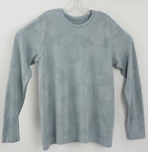 Lululemon Metal Vent Tech Men's Large L/S Light Blue Breathable Workout T-Shirt
