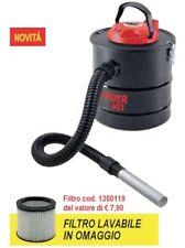 Bidone aspira cenere polvere Valex Cinder 603 800W HEPA filtro ricambio omaggio