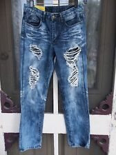 Machine by Pink Ice Women's Junior's Low Rise Straight Denim Size 26 RIPPED