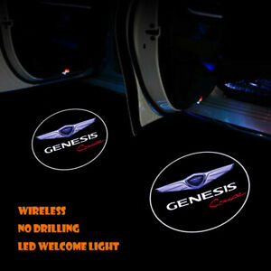2x Car Door Wireless LED Ghost Laser Projector Shadow Light for Genesis Coupe
