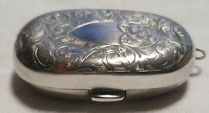Sterling Silver Double Sovereign Holder Case 1907 Birmingham E.J.Houlston