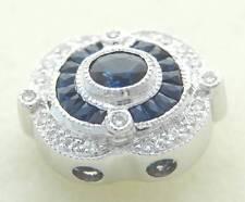 KLEIN DIAMOND SAPPHIRE SLIDE BRACELET SLIDER CHARM REDUCED