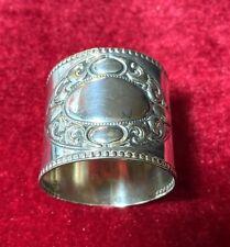 KraftAlpacca RK, Germany, SP Napkin Ring, Scrolls, Beaded Rims; No Monogram