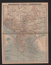 Landkarte map 1885: EUROPÄISCHE TÜRKEI & GRIECHENLAND.